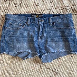 Lucky brand star shorts.